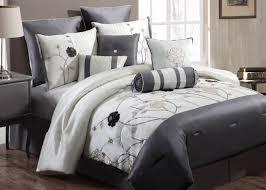 bedding set modern comforter sets king amazing white and grey