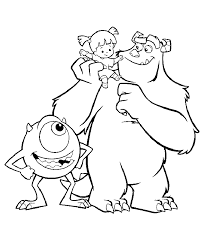 monsters coloring pages movie coloringstar