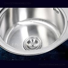 Brushed Stainless Steel Double Round Bowls Kitchen Sinks - Round bowl kitchen sink