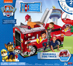 minecraft fire truck paw patrol marshall fire truck play tent toys