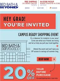 Bed Bath And Beyond Shipping Bed Bath And Beyond You U0027re Invited Attend And Receive 20 Off