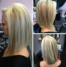 stacked hair longer sides simple long angled bob hairstyles side part for straight blonde