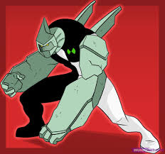 draw diamondhead step step ben 10 characters cartoons