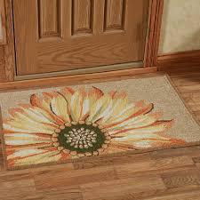 kitchen accent rug sunflower indoor outdoor rugs