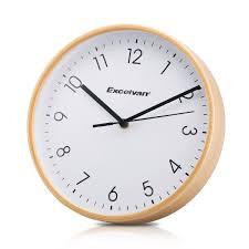 Wooden Wall Clock by Excelvan 8 U0026 034 Wall Clock Wooden Clock Quartz Silent Sweep