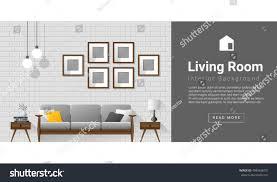 interior design modern living room background stock vector