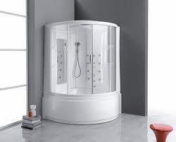 built in bathtub shower combination corner composite