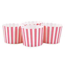 candy cups wholesale bubblegum pink striped candy cups 24 pack dmc53547