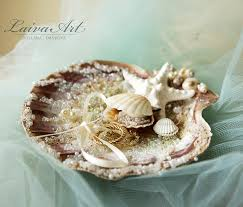 wedding ring holder seashell wedding ring bearer pillow ring holder wedding ring