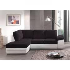 canapé d angle noir et blanc pas cher canapé d angle convertible louis gauche noir blanc acheter moins