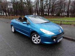 blue peugeot for sale peugeot 2008 307 cc 2 0 16v s 2dr car for sale