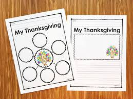thanksgiving writing activity thanksgiving reflection activity simply kinder