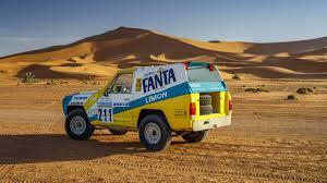 nissan patrol classic 1987 nissan patrol fanta limon paris dakar rally car restored