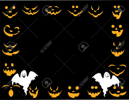 black halloween background halloween background with different faces and good and evil ghost