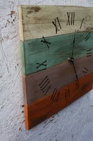pallet wood clock beach house style recycled wood distressed
