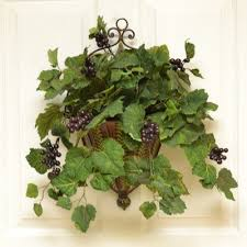 Wall Sconces For Flowers Metal Wall Sconce With Grape Ivy Wall Accent Sc05 Floral Home