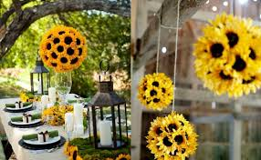 Sunflower Decorations Being Creative With Sunflowers This Summer