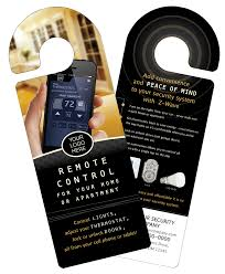 digital monitoring products customer marketing door hangers