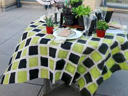 Halloween Fabric Tablecloth How To Make A Tablecloth Out Of A Canvas Drop Cloth How Tos Diy