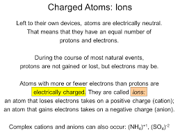Ions Periodic Table Charged Atoms Ions Sliderbase