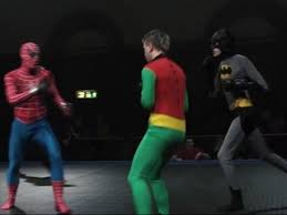 batman robin fight spider man mma match video mary sue