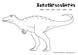 xenotarsosaurus coloring