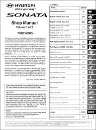 hyundai sonata repair manual what to look for when buying