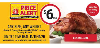 bi lo any size turkey for 6 with 30 purchase southern savers