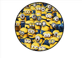 edible minions minion edible premium wafer paper 7 cake topper