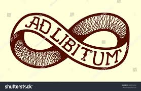 ad libitum adlib endless knot infinity stock vector 242953093