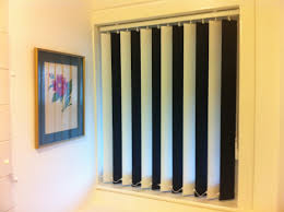 vertical blinds in mixed colours great for football colours for