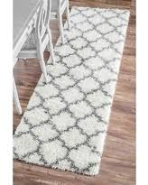 Shaggy Runner Rug Great Deal On Nuloom Moroccan Trellis Soft And Plush Shag Runner