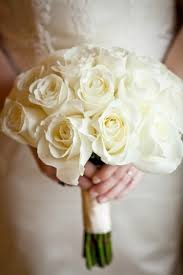White Rose Bouquet Real Weddings Shannon Scott White Rose Bouquet Rose Bouquet