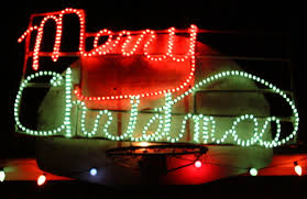 led merry christmas light sign plymouth lights construction