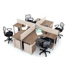 Office Workstation Desk Glamorous Modern Wood Office Furniture Workstation With Partition
