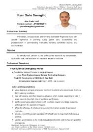 Sample Perioperative Nurse Resume Resume For Staff Nurse Philippines Virtren Com