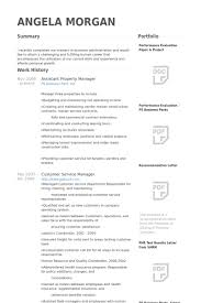 Service Management Resume Sample Assistant Property Manager Resume Template Thehawaiianportal Com