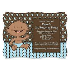 modern boy african american first birthday party theme