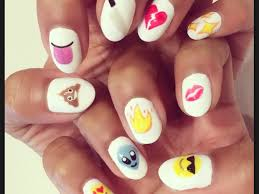 cute emoji nails emojie nails pinterest emoji nails ongles