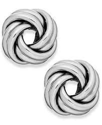 white gold earrings studs knot stud earrings in 18k white gold earrings jewelry