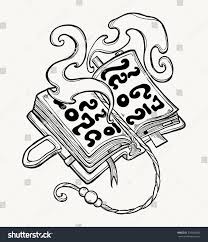 magical open book vector illustration coloring stock vector
