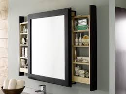 Bathroom Cabinets Mirrored Doors - bedroom attractive decora bathroom mirror with pull out shelves