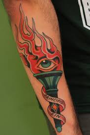 burning torch tattoo burning torch tattoo tattoos pinterest