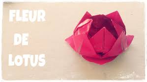 Pliage Serviette Papier Poinsettia by Comment Faire Une Fleur De Lotus En Papier Youtube