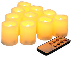 Flameless Candle Sconces With Timer Flameless Votive Candles With Remote And Timer Set Of 10
