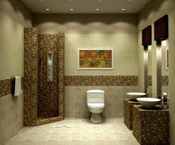 Modern Bathroom Colour Schemes - beige bathroom colour schemes wall mounted white toilet built in