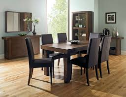 walnut dining tables available from walnutdiningtable co uk bentley designs akita walnut 4 6 end dining table 6 taper back brown chairs