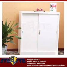 White Corner Storage Cabinet by Half Height Cream 2 Tier Shallow Storage Cabinet Sliding Steel