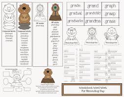 classroom freebies groundhog word packet