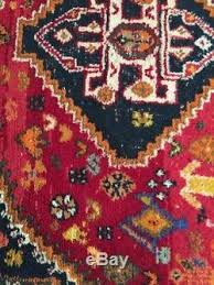 Vintage Tribal Rugs Vintage Persian Shiraz Tribal Rug Hand Knotted Asymmetrical Wool